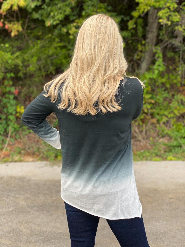 black/gray knot top I24