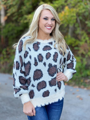 ivory leopard sweater