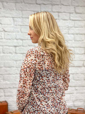 ivory floral top L40 FINAL SALE NO EXCHANGE