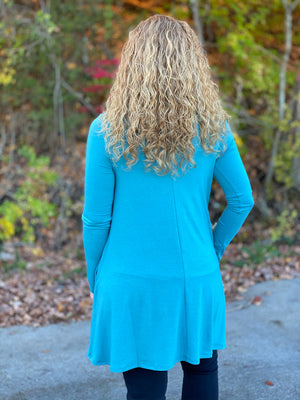 dusty teal tunic X23