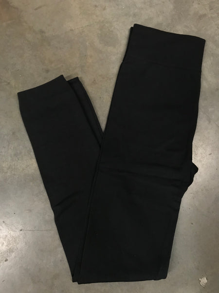 Curvy Black Fleece Leggings