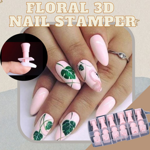 [PROMO 30% OFF] NailDeco+ Floral 3D Nail Stamper