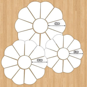 [PROMO 30% OFF] Flowery Dresden Piecing Template