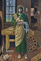 "*NEW* Saint Joseph the Custodian of the Two Hearts 12"" x 16"" Print"