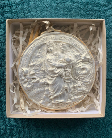 *NEW* 2020 Golden White Our Lady of Prompt Succor Ornament