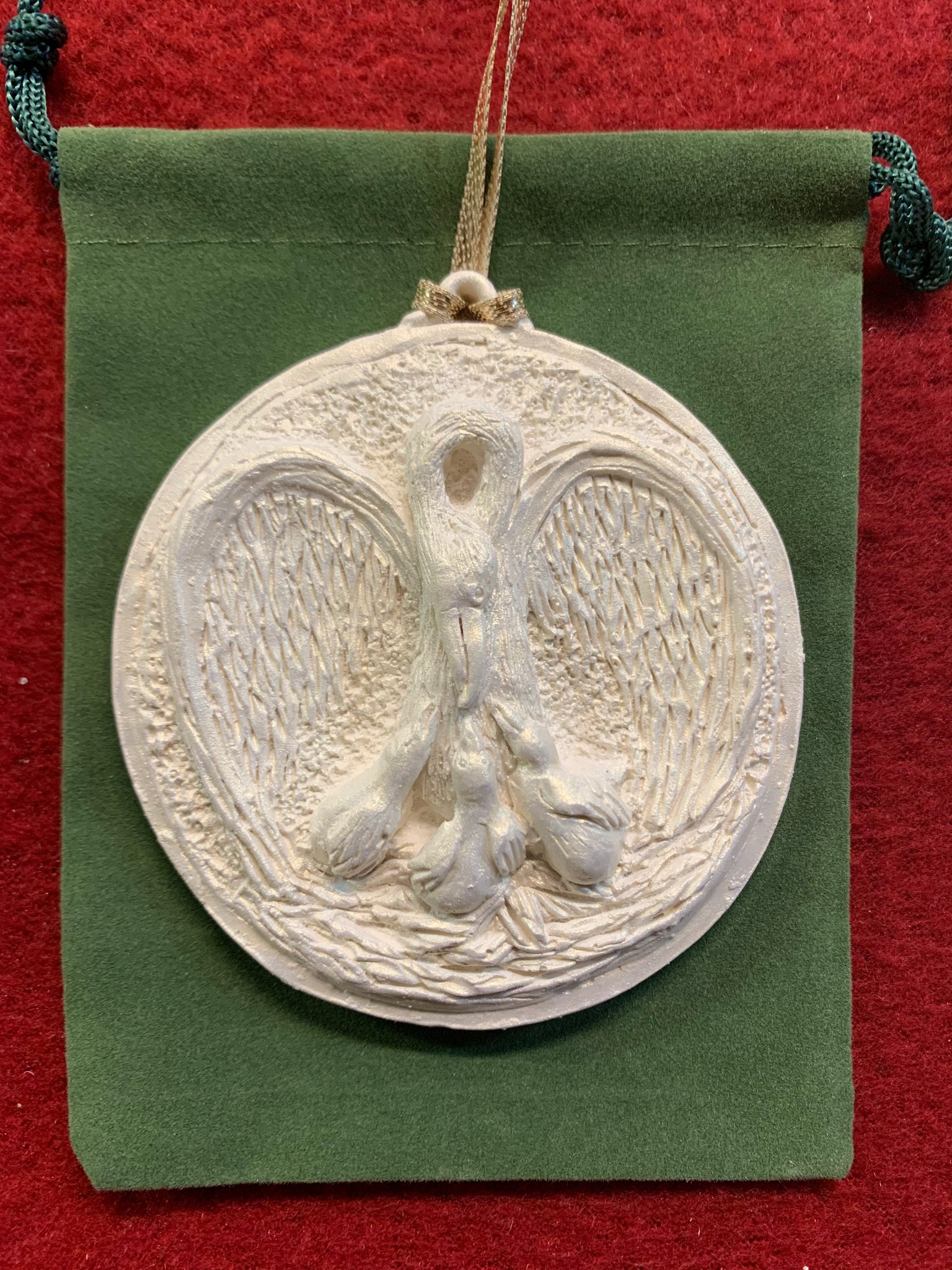 2019 Golden White Pelican Ornament
