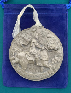 *NEW* 2020 Nickel Silver Saint Joan de Arc Ornament