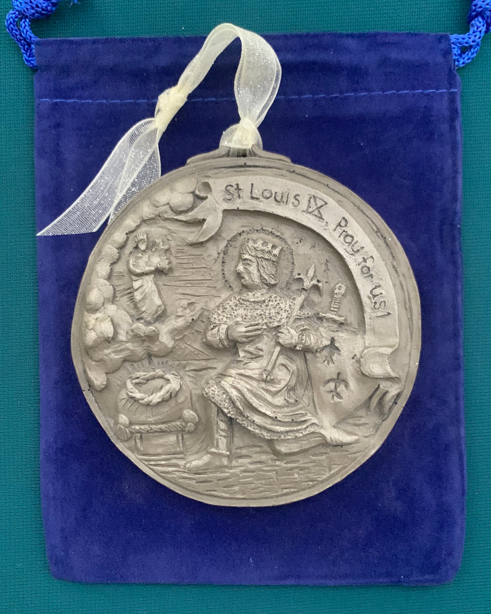 *NEW* 2020 Nickel Silver Saint Louis IX Ornament