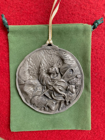 Nickel Silver 2019 Humble Shepherd Ornament