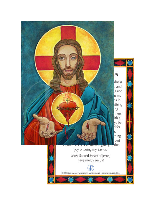 Prayer Card- Sacred Heart of Jesus