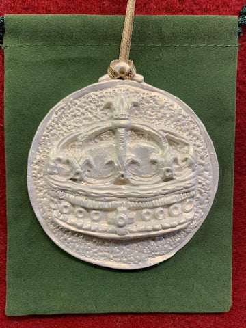 2019 Golden White Epiphany Crown Ornament