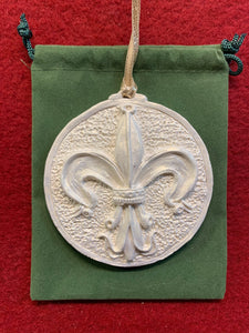 2019 Golden White Fleur-des-lis Ornament