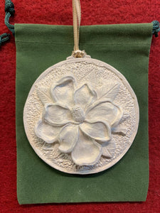 2019 Golden White Magnolia Ornament