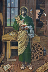 "*NEW* Saint Joseph the Custodian of the Two Hearts 20"" x 30"" Canvas Print"