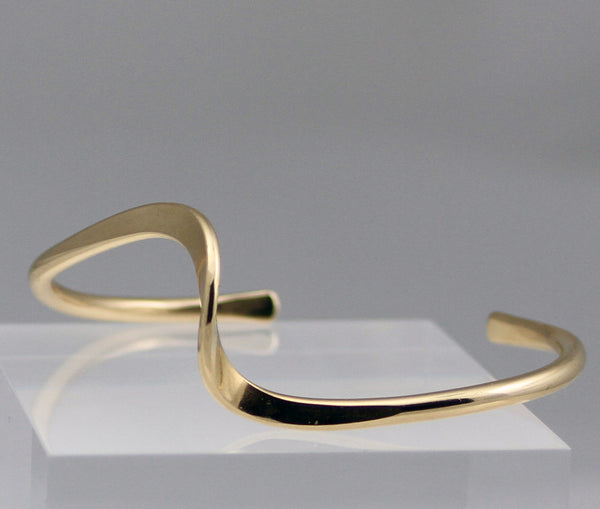 Copper or Brass Wave Cuff Bracelet