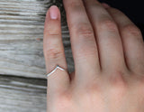 Chevron Ring, Sterling Silver