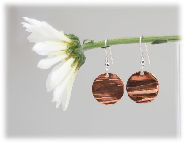 Copper Disk Dangles