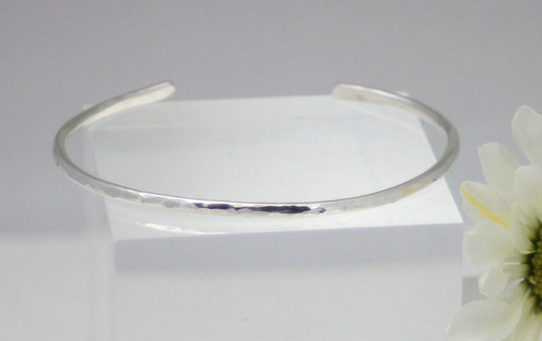 Sterling Silver Hand Hammered Cuff Bracelet