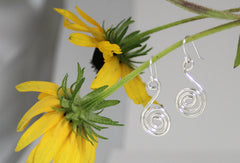 Sterling Silver Tight Little Swirls Dangle Earrings
