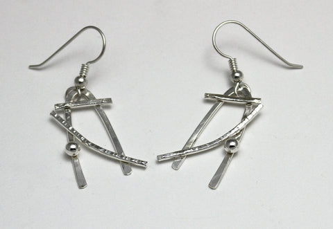Sterling Silver Fun and Abstract Earrings