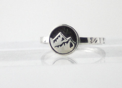 Mountain Ring, Sterling Silver Mountain Ring