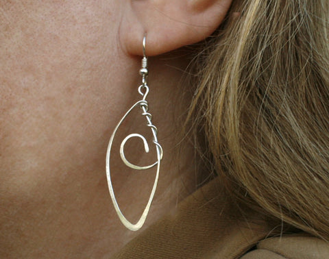 Twisted Sterling Silver Earring