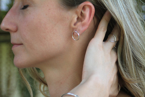 Sterling Silver Circle Post Earring