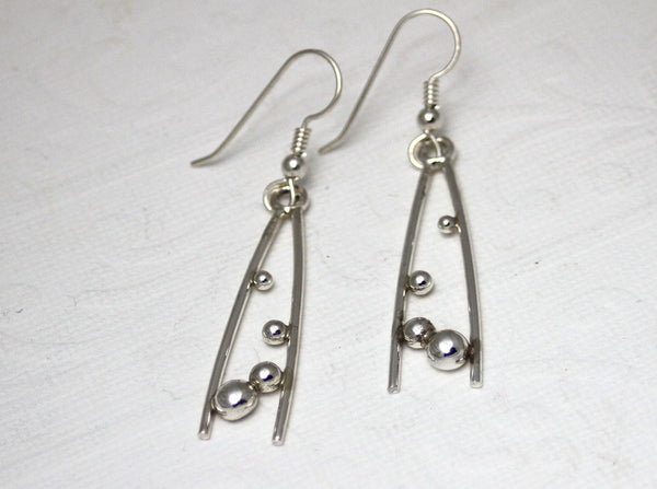 Sterling Silver Dewdrop Dangle Earrings