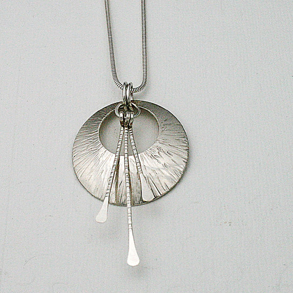 Hand Made, Hand Hammered Sterling Silver Necklace