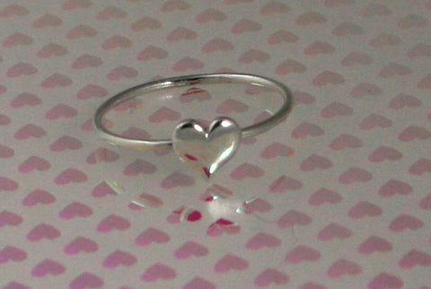 Really dainty little sterling silver heart ring