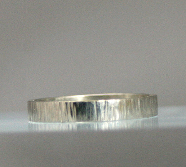 Very Nice Sterling Silver Specialty Hammered Band