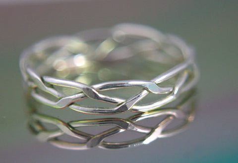 Sterling Silver Woven Wire Ring