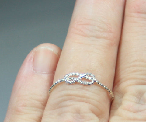 Sterling Silver Knot Knuckle Ring