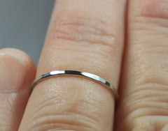 Sterling Silver Hand Hammered Knuckle Ring