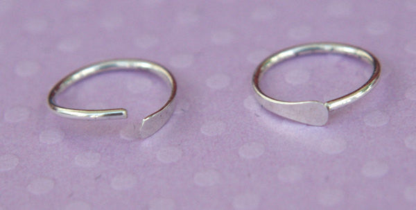 Sterling Silver Cartilage Earrings, Eyebrow Ring, Nose Ring