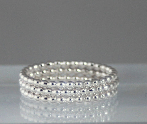 Beaded Stacking Ring Set