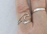 Sterling Silver Stacking Wave Ring Set