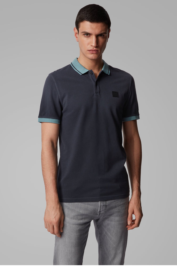 Polo Hugo Boss slim fit azul en elite addict
