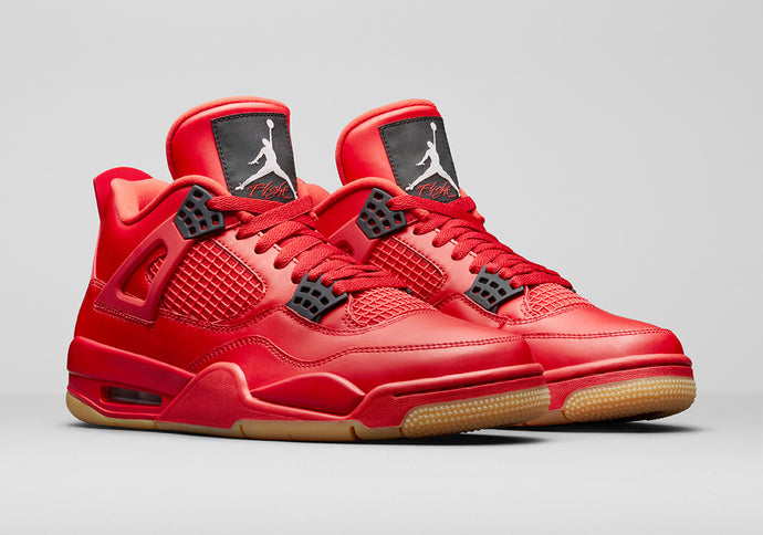 AIR JORDAN 4 FIRE RED WITH A GUM SOLE