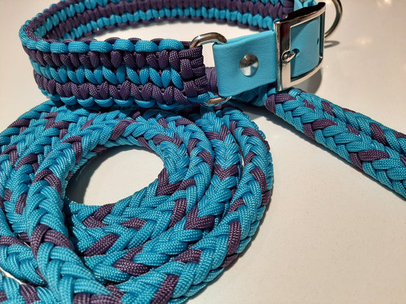 Matching Collar & Leash Set - 20-23 Inch / 6 feet