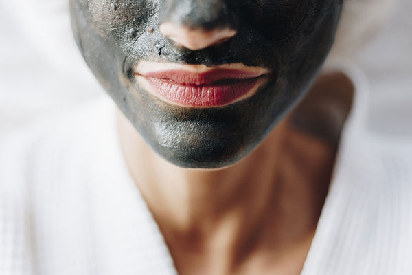 activated charcoal face mask close up