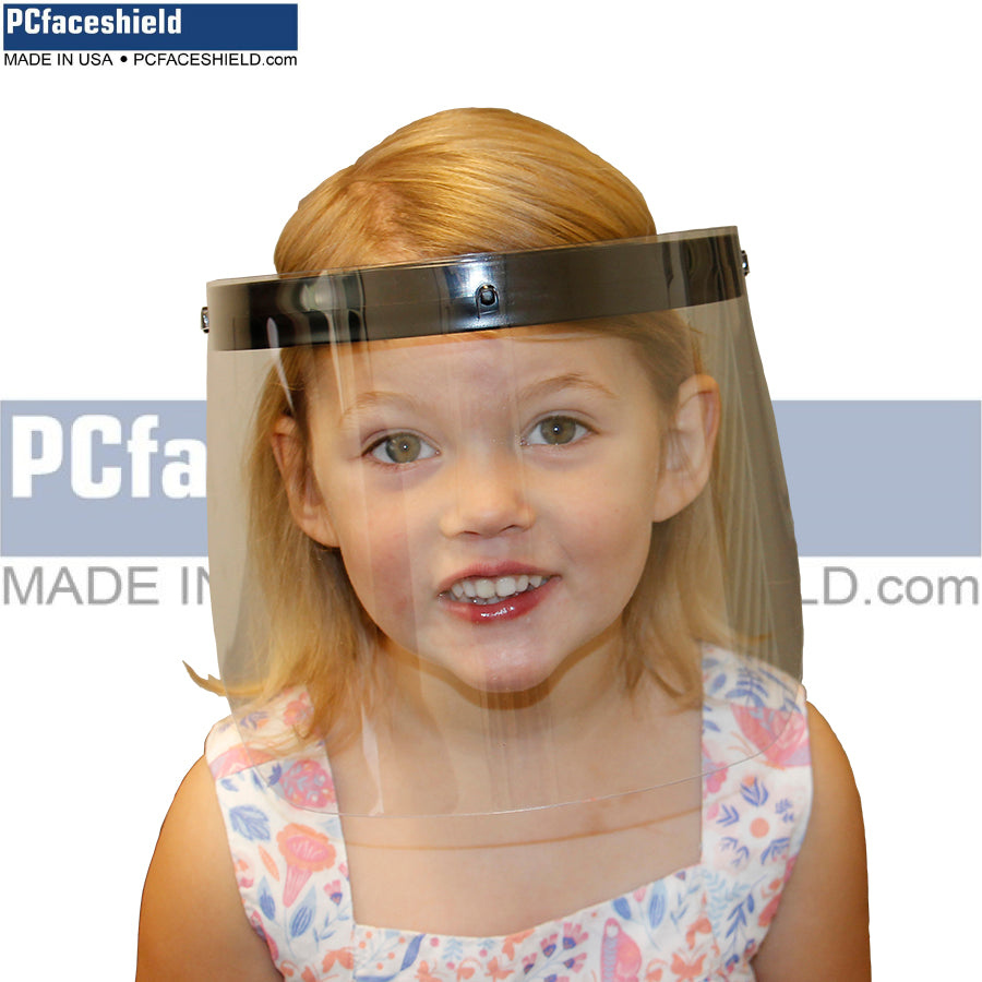 Children's - 100 Plastic Shields and 20 Reusable Headbands - 1 Carton