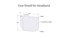 Load image into Gallery viewer, 100 Replacement Plastic Shields for Head Band Face Shield