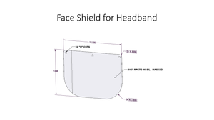 100 Replacement Plastic Shields for Head Band Face Shield