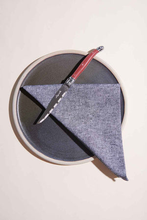 CHARCOAL CHAMBRAY MÉNAGE À QUATRE NAPKINS