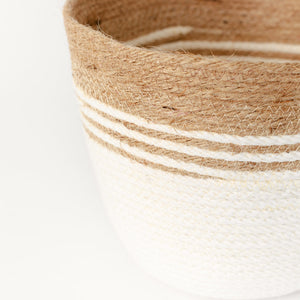 Load image into Gallery viewer, CHUNKY STRIPE JUTE BUCKET