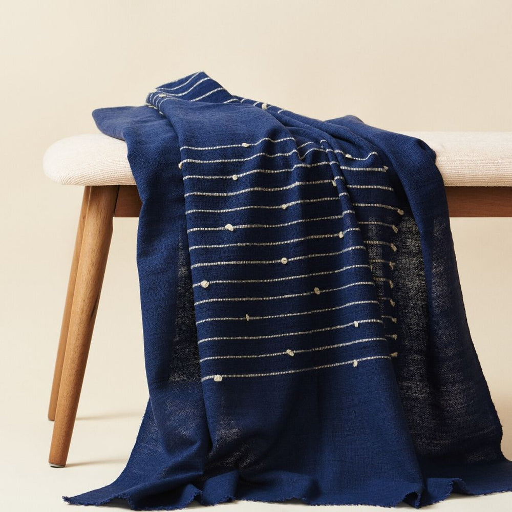 Load image into Gallery viewer, ROSEWOOD INDIGO THROW