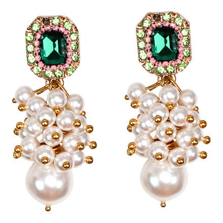 Emerald Pearl Earring - Graced London