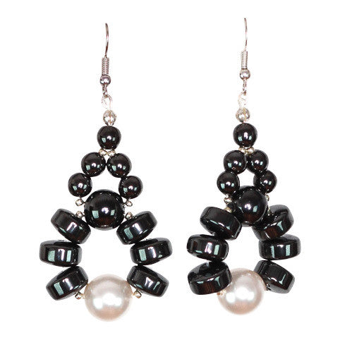 Eni Hematite Earring - Graced London - 2