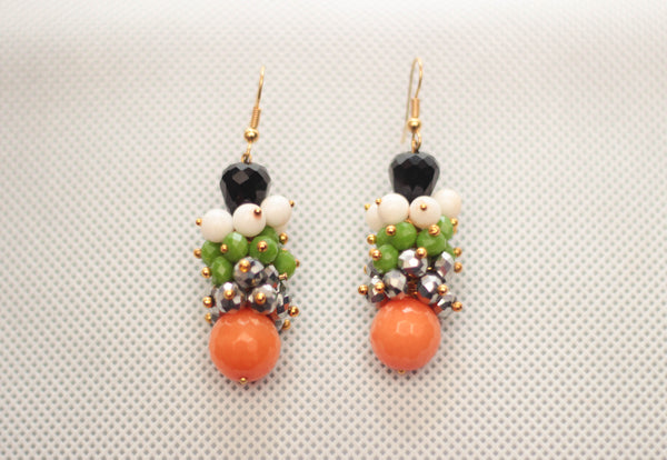 Orange Tree Root  Earring - Graced London - 1
